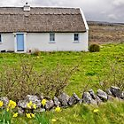 rural irish cottage in the burren countryside, county clare, ireland by upthebanner