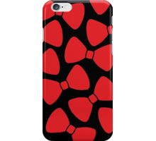 Red Bows Pattern iPhone Case/Skin