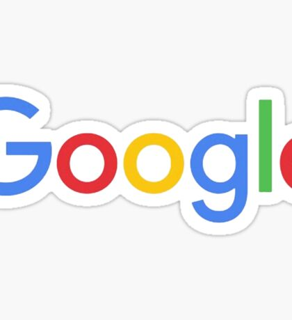 New Google Logo Sticker