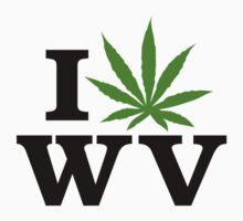 I Love West Virginia Marijuana Cannabis Weed by MarijuanaTshirt