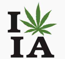 I Love Iowa Marijuana Cannabis Weed by MarijuanaTshirt