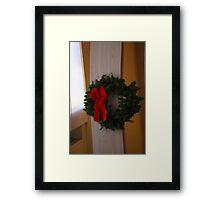 A Christmas Wreath Framed Print