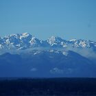 Olympic Mountains beyond Puget Sound by Loisb