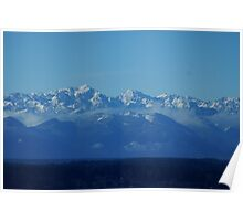 Olympic Mountains beyond Puget Sound Poster