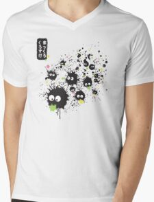 Makkuro Kurosuke ink Mens V-Neck T-Shirt