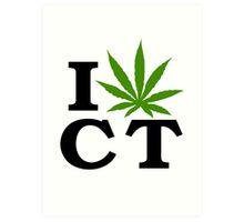 I Love Connecticut Marijuana Cannabis Weed Art Print