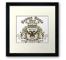 Crown Roots Stone Framed Print