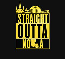 Straight Outta NOLA (Black and Gold) Women's Fitted V-Neck T-Shirt