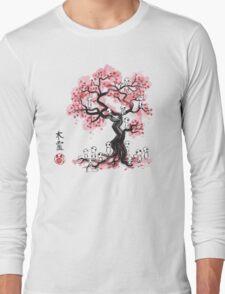 Forest Spirits sumi-e  Long Sleeve T-Shirt