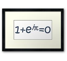 THE BEAUTIFUL EQUATION: EULER'S IDENTITY Framed Print