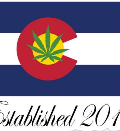 Colorado Marijuana 2012 Sticker