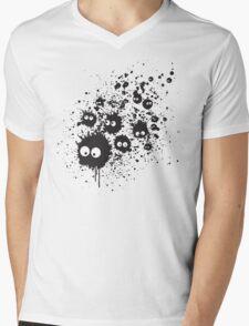 Susuwatari ink Mens V-Neck T-Shirt