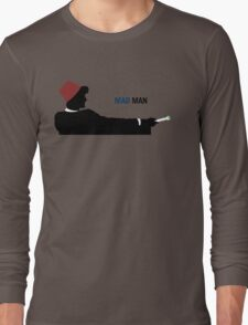 Mad Man (with a Box) Long Sleeve T-Shirt