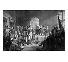 Washington Meeting His Generals Photographic Print