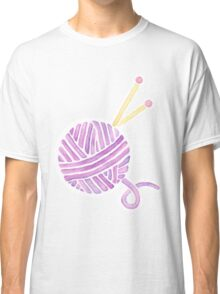 Ball of Yarn - Knitting Watercolor Classic T-Shirt