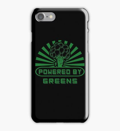 Powered By Greens iPhone Case/Skin