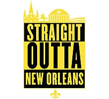 Straight Outta New Orleans (Black and Gold) Photographic Print