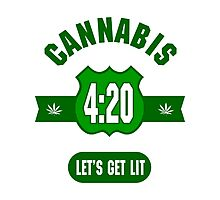 Cannabis 420 Photographic Print