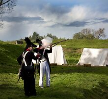 napoleonic re enactment by Christian van Tilborg