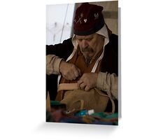 Medieval tailor Greeting Card
