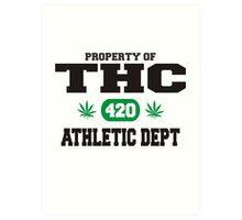 Marijuana THC Athletic Dept Art Print