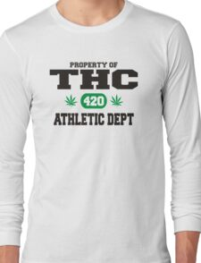 Marijuana THC Athletic Dept Long Sleeve T-Shirt