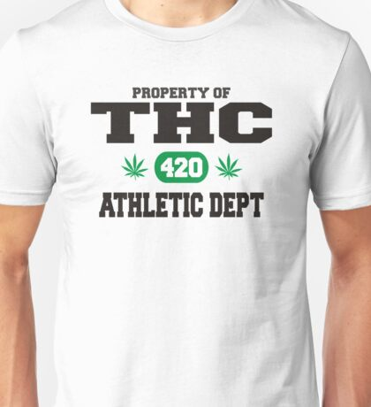 Marijuana THC Athletic Dept Unisex T-Shirt
