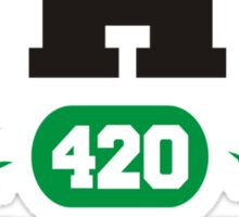 Marijuana THC Athletic Dept Sticker