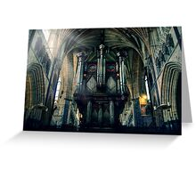 Organ at Exeter Cathedral Greeting Card