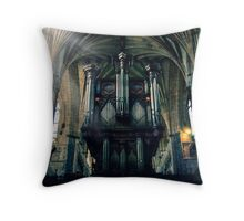 Organ at Exeter Cathedral Throw Pillow