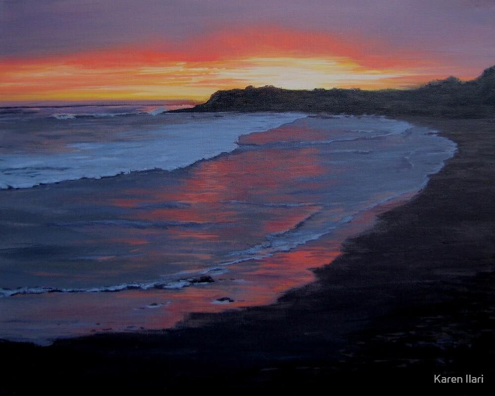 San Simeon Sunset by Karen Ilari