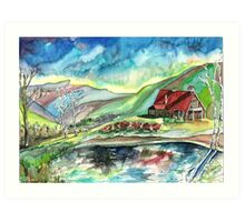 Honey Hollow on Camel's Hump Art Print