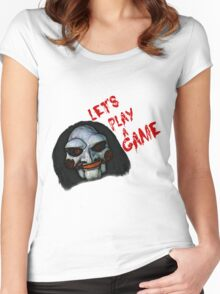 Let's play a game Women's Fitted Scoop T-Shirt