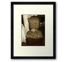 Chair by the Hearth Framed Print
