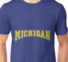 MICHIGAN for Blue Backgrounds Unisex T-Shirt