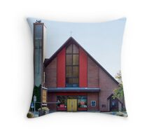 Modern Day Bell Tower Throw Pillow