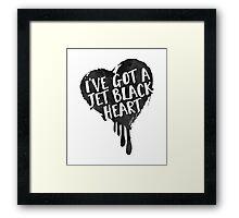 Jet Black Heart Framed Print