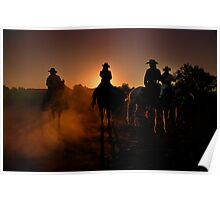 Returning home at sunset Poster
