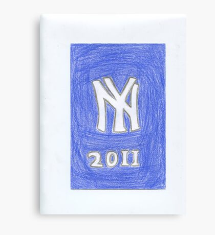 Yankees New Year Canvas Print