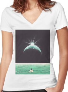 Parturition Women's Fitted V-Neck T-Shirt