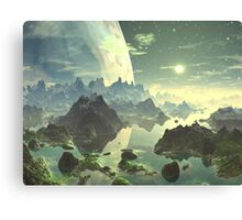 Planet Rise over New Eden Canvas Print