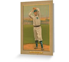 Old baseball card  Greeting Card