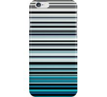 Abstract monochrome and blue horizontal linework iPhone Case/Skin