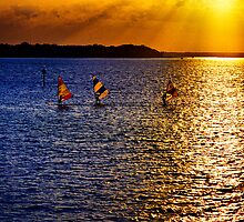 Sunset Sailing by Jim Haley