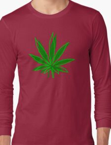 Abstract Cannabis Leaf Long Sleeve T-Shirt