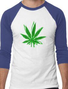 Abstract Cannabis Leaf Men's Baseball ¾ T-Shirt