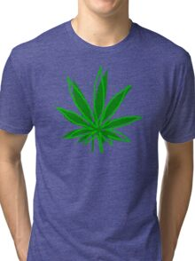 Abstract Cannabis Leaf Tri-blend T-Shirt