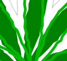 Abstract Cannabis Leaf Sticker