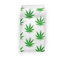 Abstract Cannabis Leaf Duvet Cover