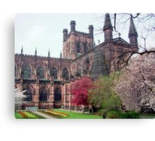 Chester Cathedral in Springtime Canvas Print